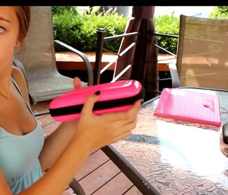 home accessory pink pencil case