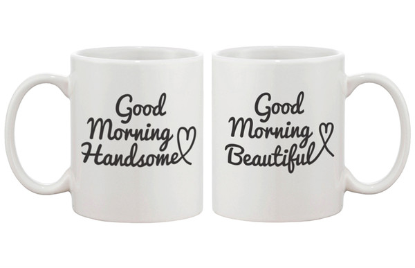 jewels good morning beautiful good morning handsome mug mug coffee coffee coffee cups his and hers mugs matching couples mr and mrs couple mugs bridal shower wedding gifts anniversary gifts romantic gifts