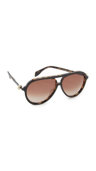 skull sunglasses aviator sunglasses black brown