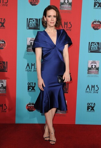 blue dress sarah paulson zac posen