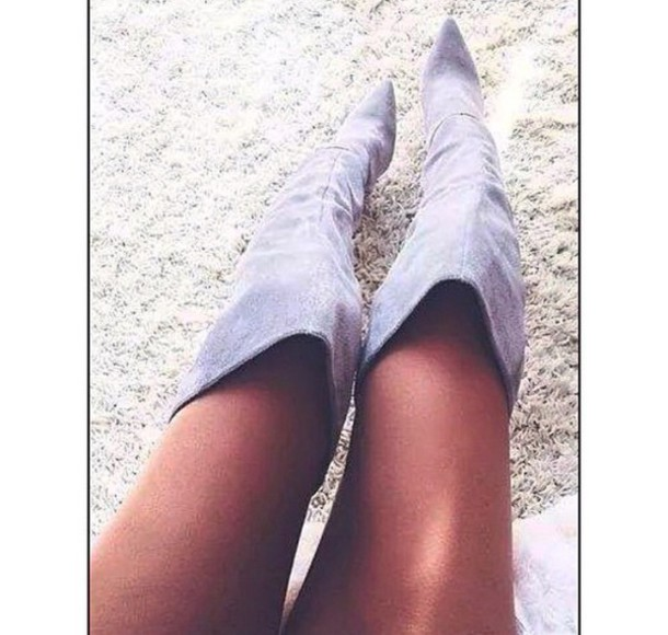 shoes boots grey boots grey suede boots fashion knee high boots grey shoes suede boots
