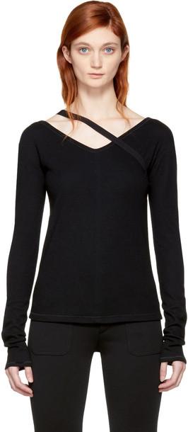 Helmut Lang pullover black wool sweater