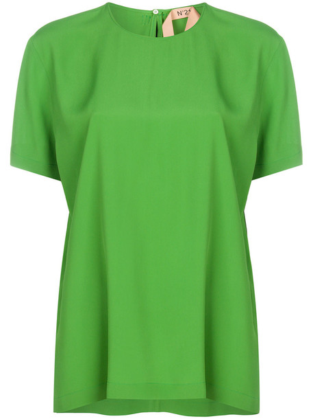 No21 top back women silk green
