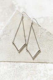 jewels,arrow,peek,dangling,dainty,silver,earrings