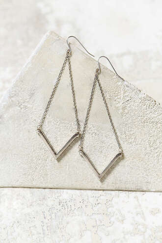 jewels arrow peek dangling dainty silver earrings