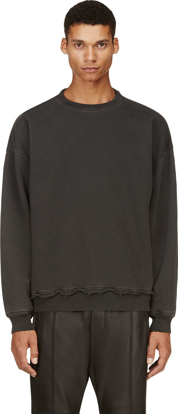 Haider Ackermann - Washed Black Shrunken Sweatshirt