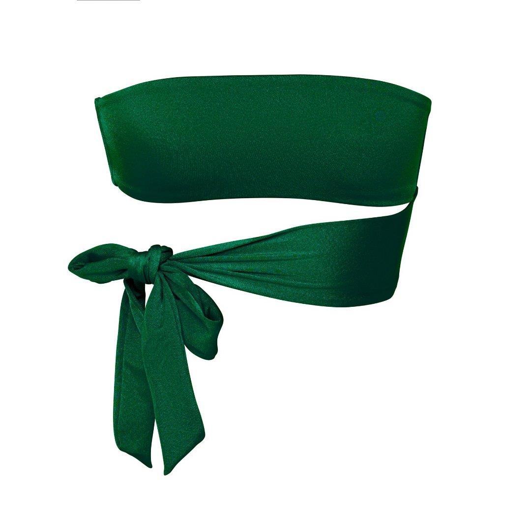 Harlow Emerald - Bandeau Bikini Top