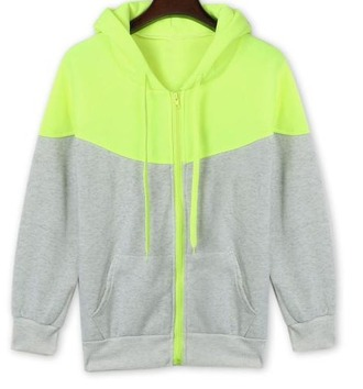 sweater girl girly girly wishlist hoodie grey neon zip