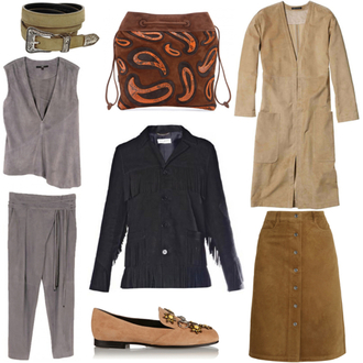 northern light blogger belt coat suede suede jacket loafers