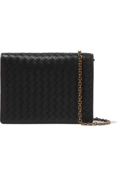 Bottega Veneta - Intrecciato Leather Shoulder Bag - Black