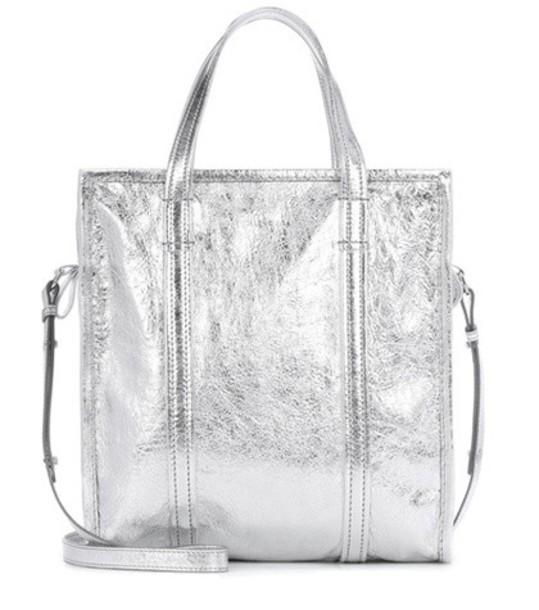 Balenciaga bag leather silver