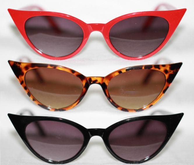 cat eye brille sonnenbrille 50er jahre z petticoat kleid vintage rot leo 806