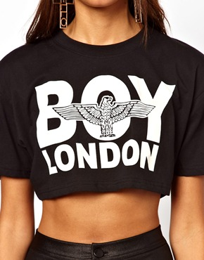 BOY London | BOY London Cropped T-Shirt at ASOS