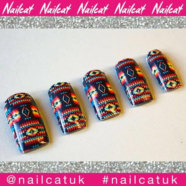 nail accessories nail decals nail polish nail art nail stickers nail wraps nail print aztec aztec nails navajo