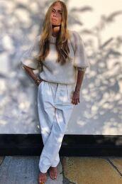 sweater,blogger,pernille teisbaek,instagram,white