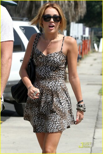 dress leopard miley cyrus