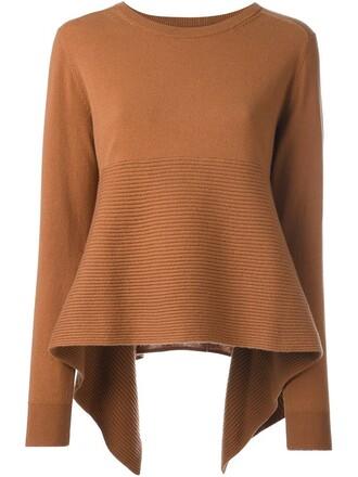 jumper loose women fit brown sweater