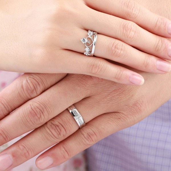 Jewels Lover Rings Evolees Com Prince And Princess 925 Sterling
