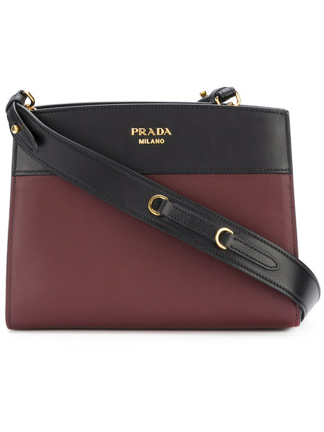 Prada women bag shoulder bag leather red