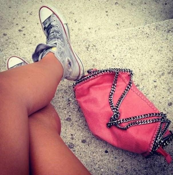 bag stella mccartney falabella vegan pink coral handbag handbag