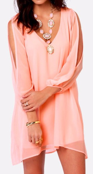 dress coral pink pink dress coral dress jewels