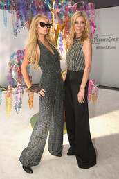 jumpsuit,glitter,sparkle,paris hilton,celebrity,pants,top