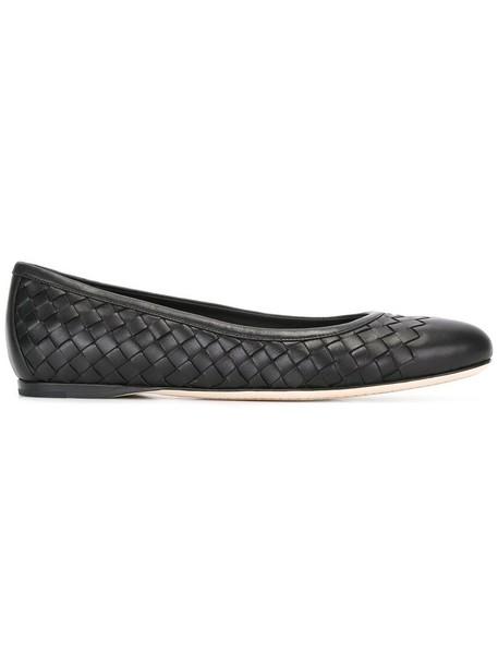 Bottega Veneta women leather black shoes