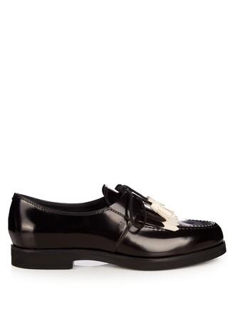 shoes lace-up shoes lace white black