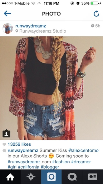 jacket jewels shorts tank top blouse hippie boho bohemian fashion kimono cardigan maroon/burgundy aztec