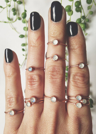 jewels moonstone ring moonstone rings boho jewelry boho crystal quartz handmade gold midi rings midi rings hand jewelry hand jewelry gemstone ring college