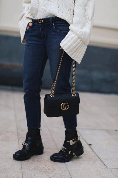 2d73cc80bf29 shoes tumblr boots black boots flat boots buckle boots buckles bag black  bag gucci gucci bag