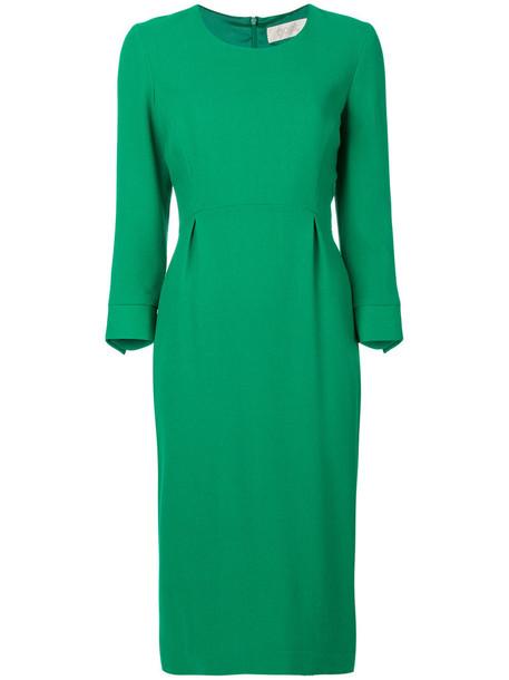 Goat dress women wool green