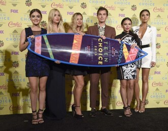 dress lucy hale shay mitchell teen choice awards ashley benson janel parrish pretty little liars aria montgomery hanna marin emily fields mona vanderwall