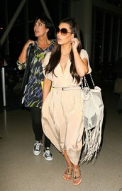 celebrity,kim kardashian,sandals,maxi dress,converse,dress,bag,shoes