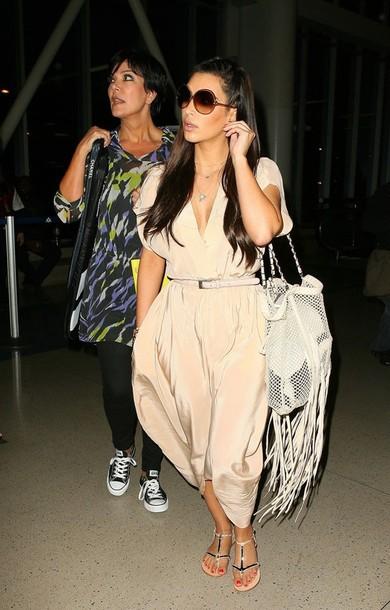 celebrity kim kardashian sandals maxi dress converse dress bag shoes