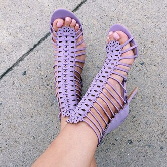 shoes lilac heels heel strappy spring pastel gojane