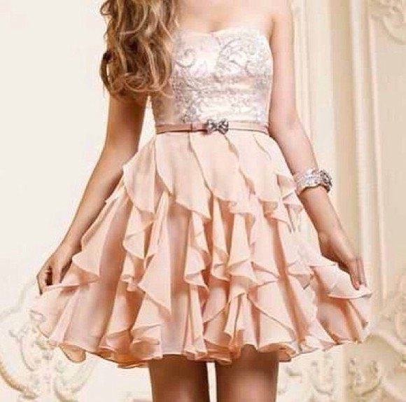 dress pink cute classy cute dress creamy