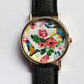 jewels,watch,handmade,style,fashion,vintage,etsy,freeforme,hummingbird,birds,foral,flowers,summer,spring,gift ideas,present,collectibles,collection,father's day,fathers day