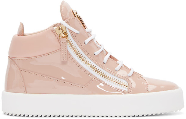 Giuseppe Zanotti high london sneakers leather pink shoes