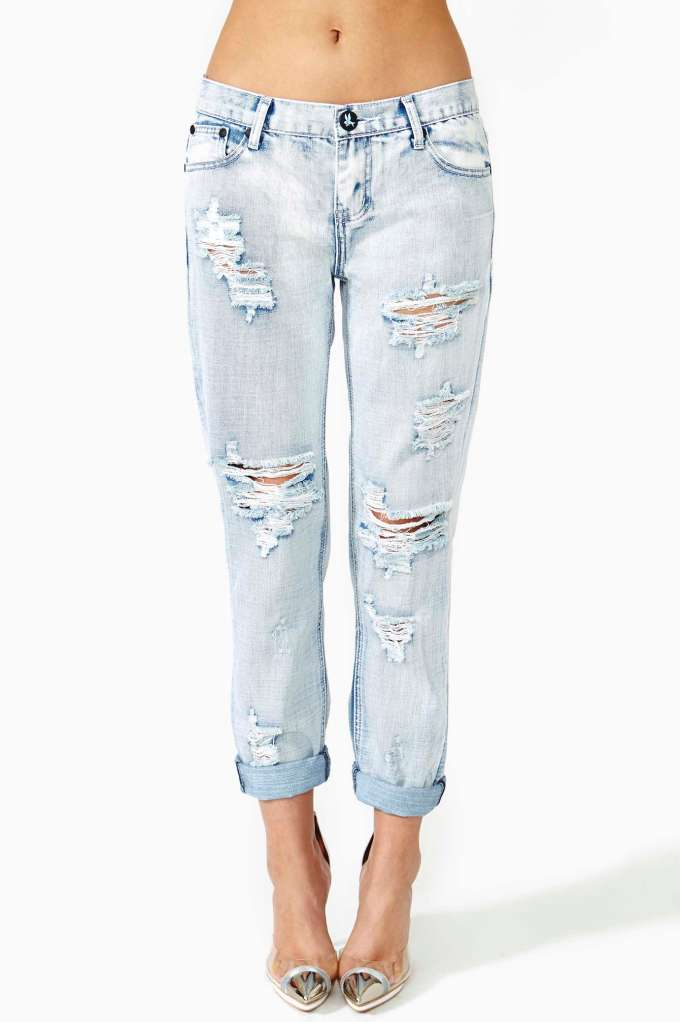 One Teaspoon Awesome Shredded Jeans in  Clothes Bottoms at Nasty Gal