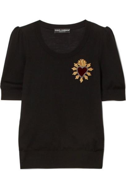 Dolce & Gabbana sweater embellished black