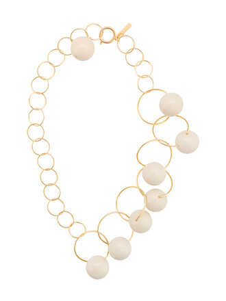 chain necklace women necklace white jewels