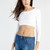 White Long Sleeved Crop Top