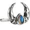 Lycaon labradorite claw moon ring