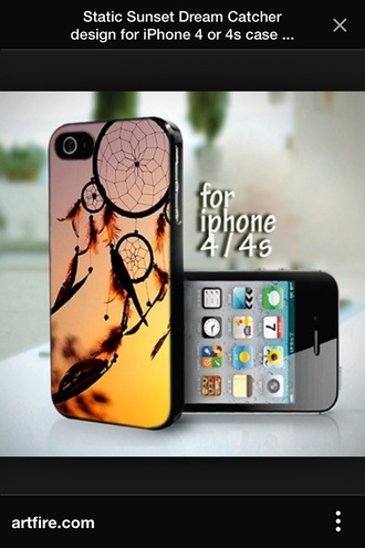 phone case phone case iphone 4 case dreamcatcher sunset
