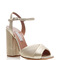 Champagne pleated leather kali platform sandals by tabitha simmons | moda operandi