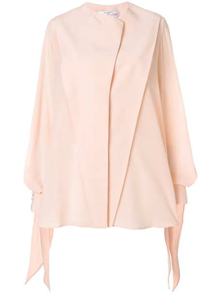 Givenchy blouse women embellished silk purple pink top