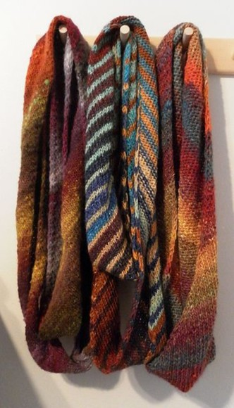 infinity scarf brown orange tan knitted scarfs warm/earthtone earth tones blue light blue rusty brown rustic black grey yellow beige red green olive olive green olive green scarf three scarve infinity scarves infinite scarf indie boho bohemian
