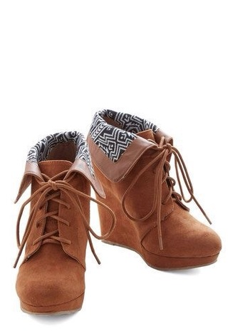 shoes tan brown high heels wedges lace up perfecto style fashion casal