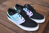 shoes,sneakers,nike,nikes,pastel,custom nike,nike sb,janoski's,janoskis black pastel shoes